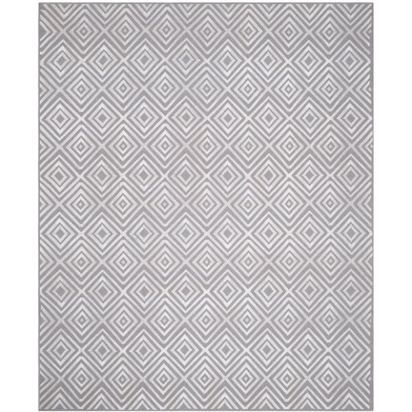 Kilim Hand-Woven Gray Area Rug by Wade Logan