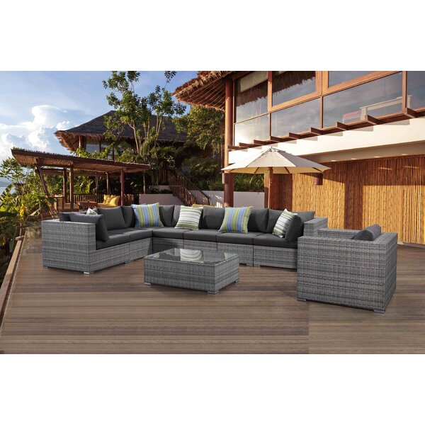 Sinead 9 Piece Sectional Set with Cushions by Brayden Studio