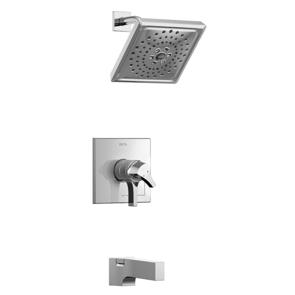 Zura Pressure Balance 17 Series Tub and Shower Trim with Double Handle and Monitor by Delta Delta