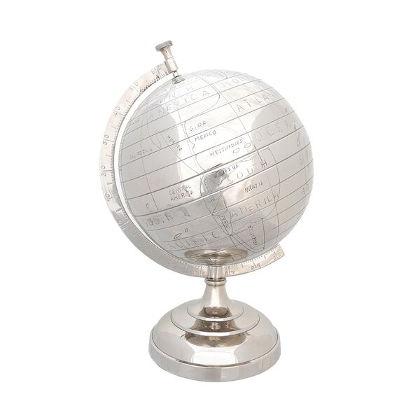 Aluminum Globe by Old Modern Handicrafts