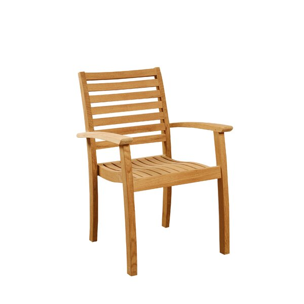 Cooley Stacking Teak Patio Dining Chair (Set of 4) by Darby Home Co Darby Home Co