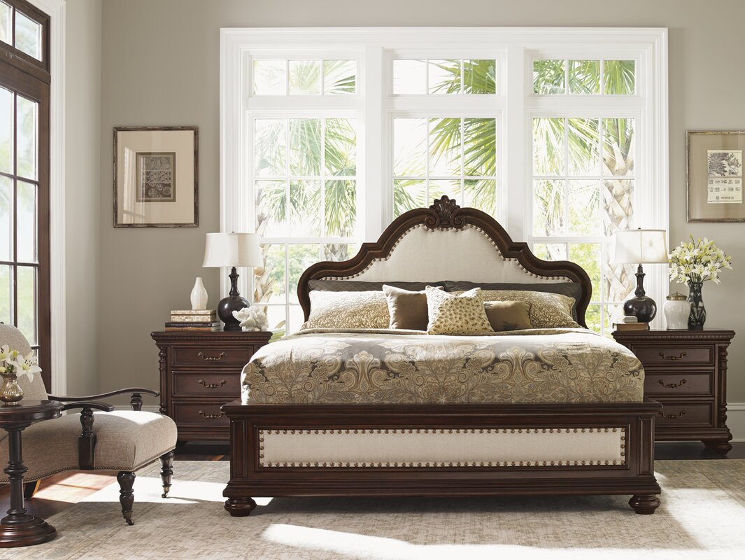 Tommy Bahama Home Kilimanjaro Barcelona Panel Customizable Bedroom ...