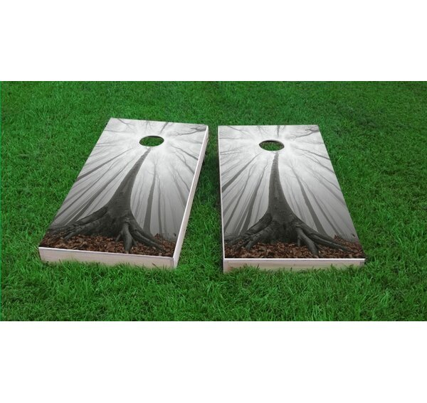 Trees in a Foggy Forest Cornhole Game Set by Custom Cornhole Boards