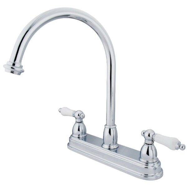 Restoration Centerset Double Handle Kitchen Faucet by Kingston Brass