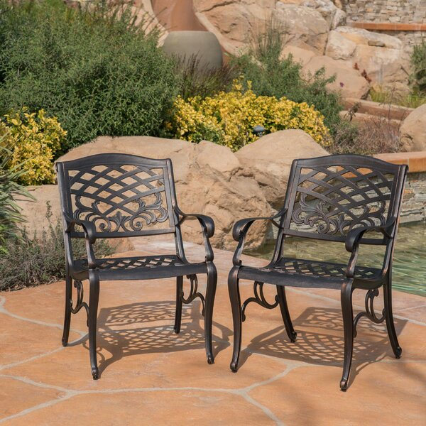 Brainerd Outdoor Patio Dining Chair (Set of 2) by Fleur De Lis Living