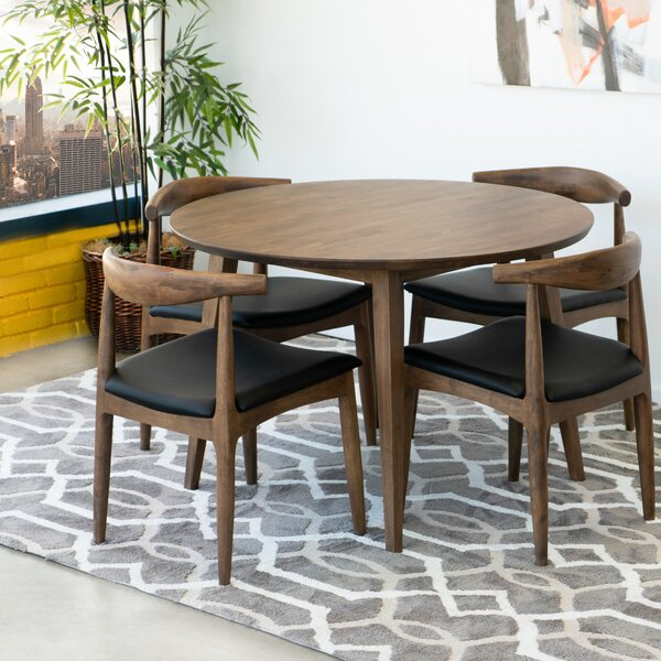 Keown 5 Piece Solid Wood Dining Set by George Oliver George Oliver