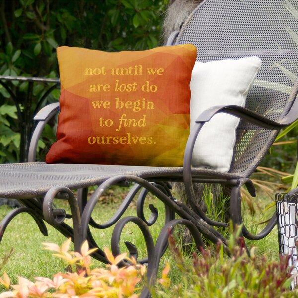 Find Yourself Indoor/Outdoor Throw Pillow
