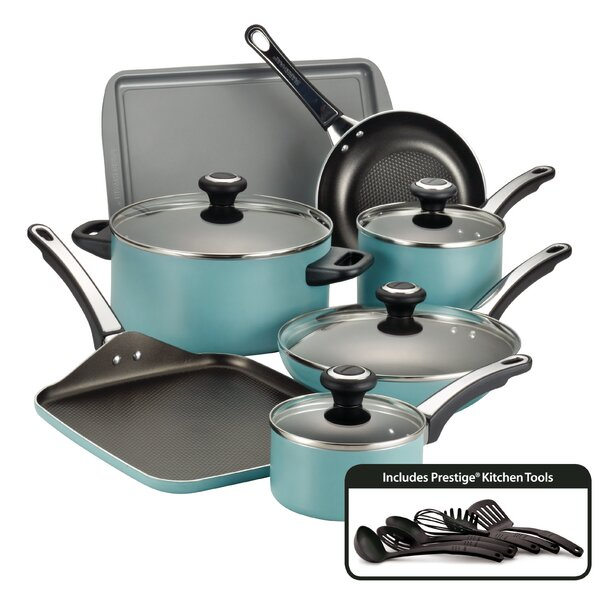 High Performance 17 Piece Nonstick Cookware Set by Farberware