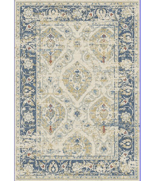 Essence Ivory/Blue Area Rug by Dynamic Rugs