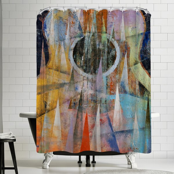 Michael Creese Mountain Guitar Shower Curtain by East Urban Home