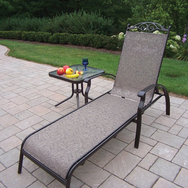 Basile Chaise Lounge with End Table by August Grove August Grove