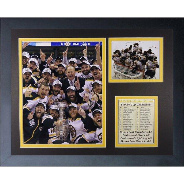 2011 Boston Bruins Champions - Celebration Framed Memorabilia by Legends Never Die