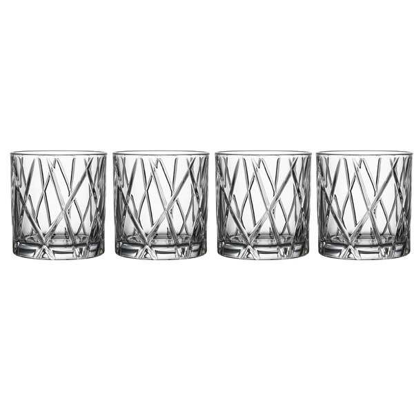 City Double Old Fashioned 11 oz. Crystal Cocktail Glass (Set of 4) by Orrefors