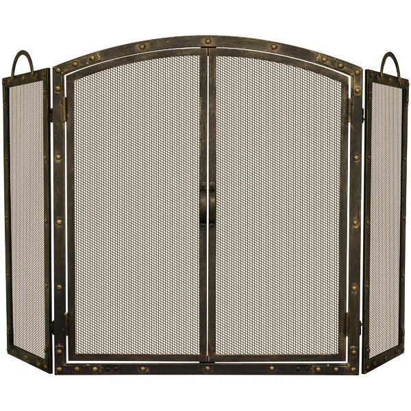 3 Panel Cabinet Steel Fireplace Screen By Uniflame