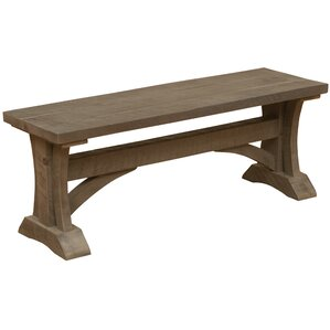 Frontier Cathedral Wood Bench by Fireside Lodge