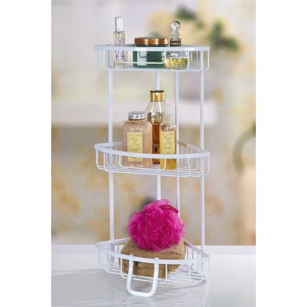 Aluminum 3 Tier Corner Shower Caddy by Bath Bliss