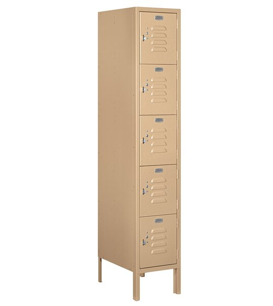 5 Tier 1 Wide Employee Locker By Salsbury Industries.
