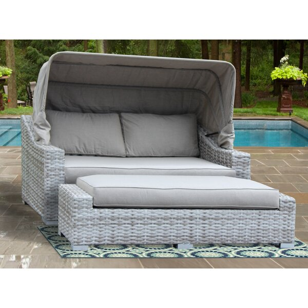 Luka Patio Daybed with Sunbrella Cushions by Red Barrel Studio