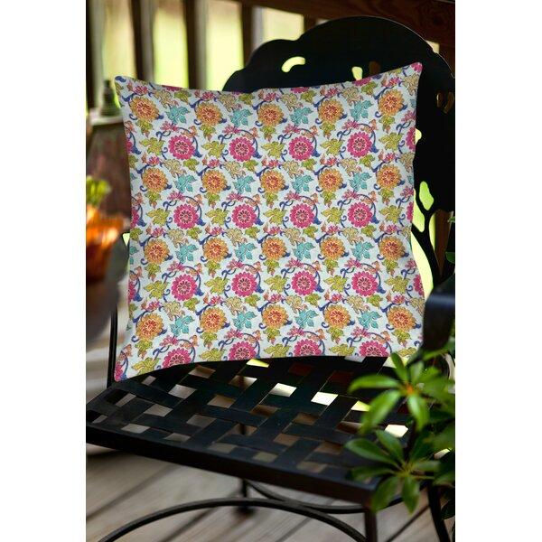 Shangri La Leaves Indoor/Outdoor Throw Pillow by Manual Woodworkers & Weavers