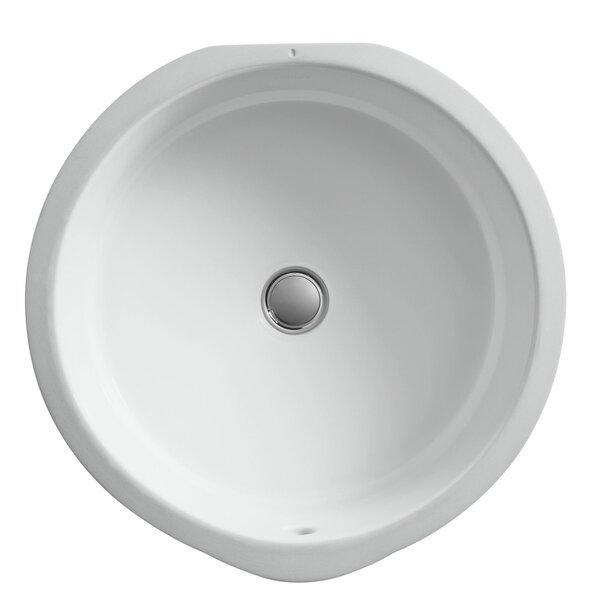 Verticyl Ceramic Circular Undermount Bathroom Sink with Overflow by Kohler