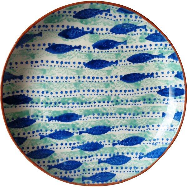 Pescador Coupe Platter by Euro Ceramica