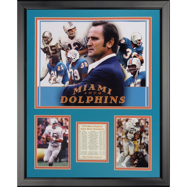 NFL Miami Dolphins - 1972 Collage Framed Memorabili by Legends Never Die