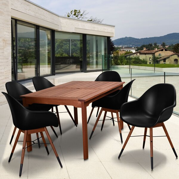 Colyer 7 Piece Rectangular  Dining Set by Mercury Row