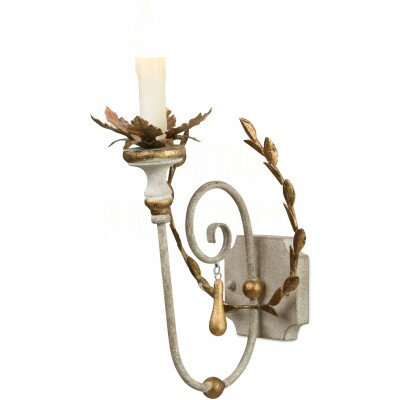 Cumiers Leaves Wreath 1-Light Candle Wall Light