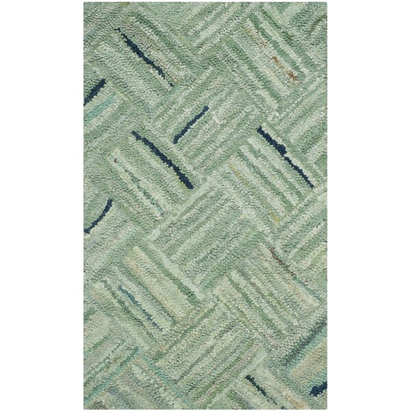 Millia Hand Tufted Green Area Rug By Bay Isle Home.