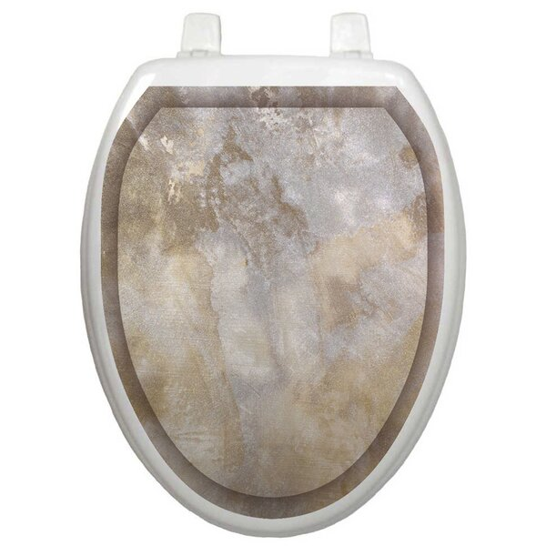 Classic Silver Stone Toilet Seat Decal by Toilet Tattoos