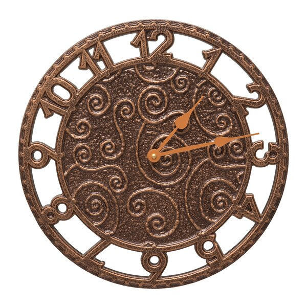 14 Flourish Indoor/Outdoor Wall Clock by Whitehall Products