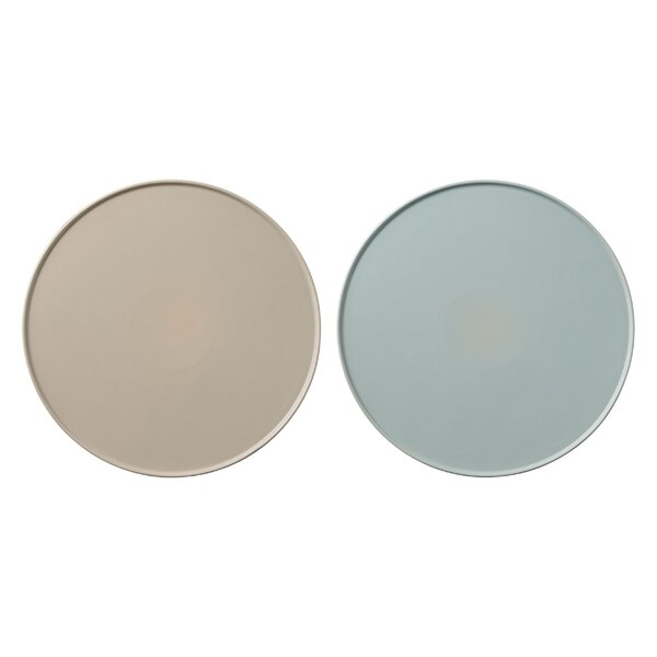 Overstreet 10.5 Ceramic Dinner plate (Set of 2) by George Oliver
