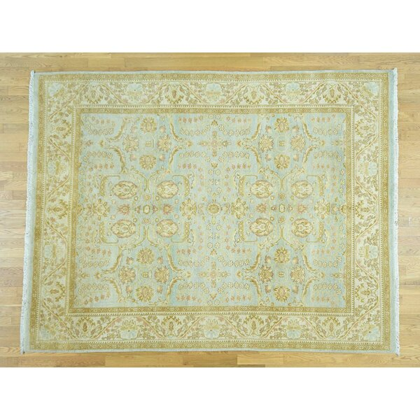 One-of-a-Kind Beaumont Ziegler Mahal Handwoven Blue Wool Area Rug by Isabelline
