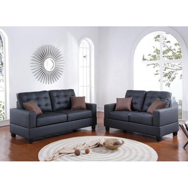 Best Price Ginnia 2 Piece Living Room Set by Ebern Designs