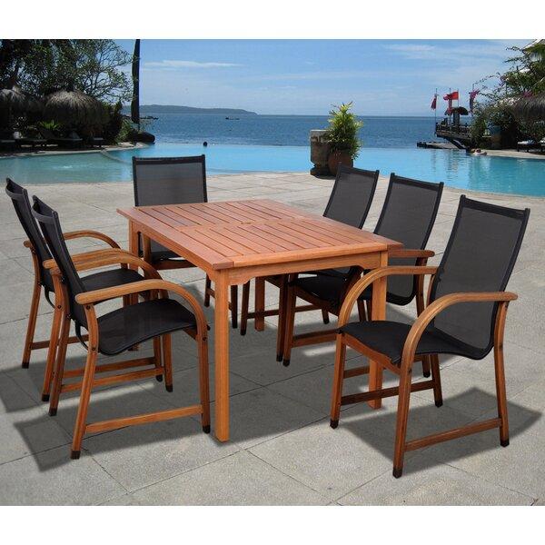 Trombetta International Home Outdoor 7 Piece Dining Set by Highland Dunes