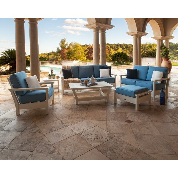 Harbour 6 Piece Sofa Seating Group with  Sunbrella Cushions by POLYWOOD®