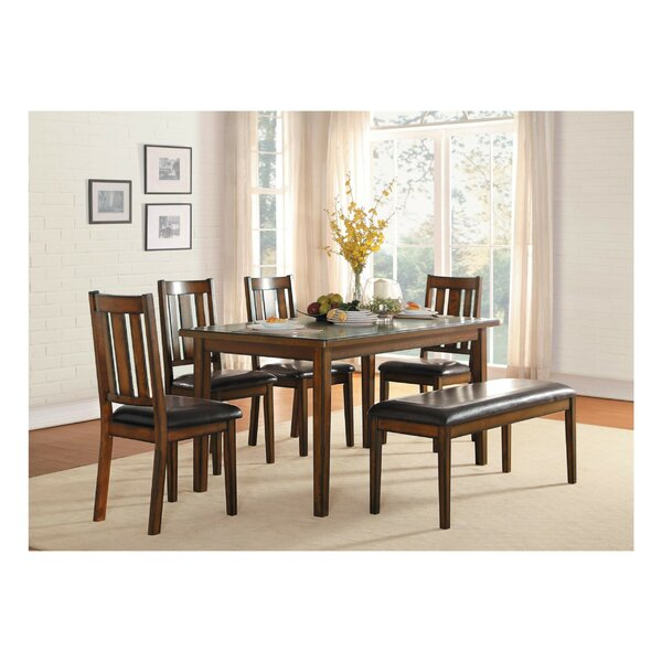 Gaertner Transitional Dinette 6 Piece Solid Wood Dining Set by Millwood Pines Millwood Pines