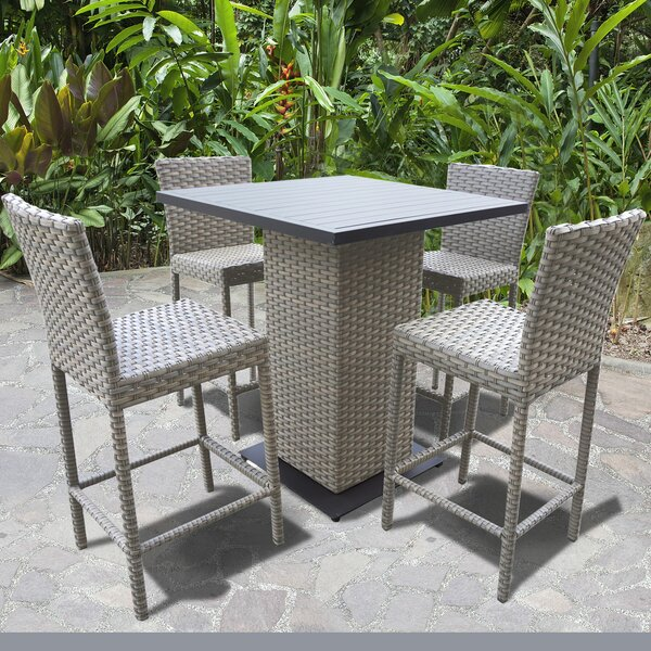 Oasis 5 Piece Bar Height Dining Set by TK Classics
