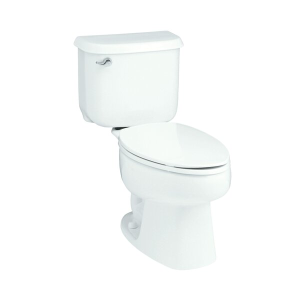 Windham Left Hand 1.6 GPF Elongated 2 Piece Toilet by Sterling by Kohler