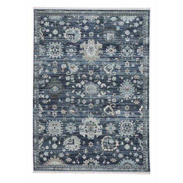 Briallen Floral Blue/Navy/Gray Indoor / Outdoor Area Rug