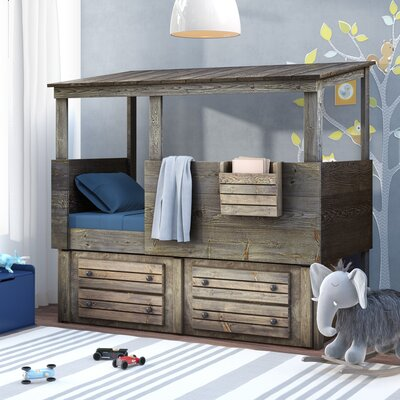 Gundey Twin Loft Bed With Storage