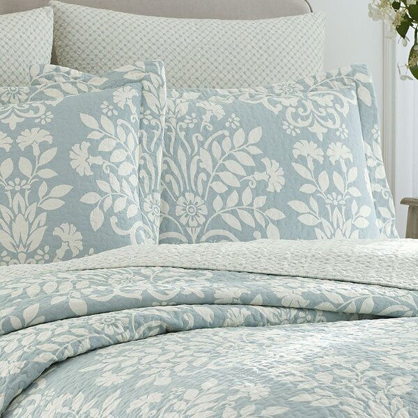 Rowland Reversible Coverlet Set By Laura Ashley.