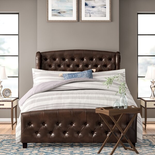 Leatham Queen Upholstered Platform Bed by Three Posts