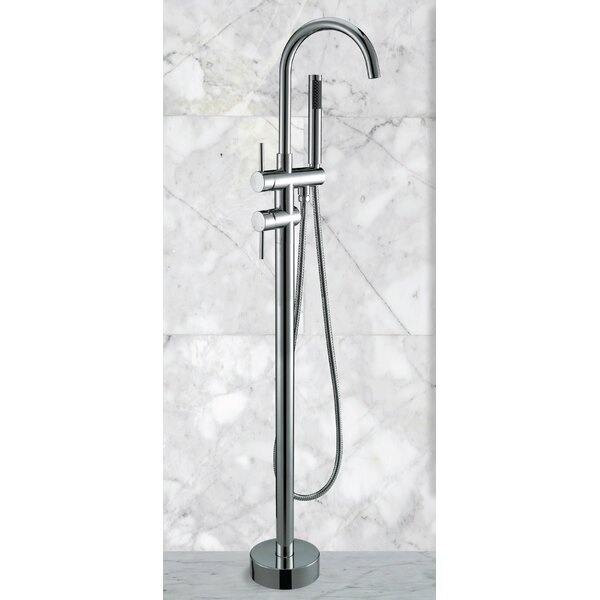 Double Handle Floor Mounted Freestanding Tub Filler By Fine Fixtures.