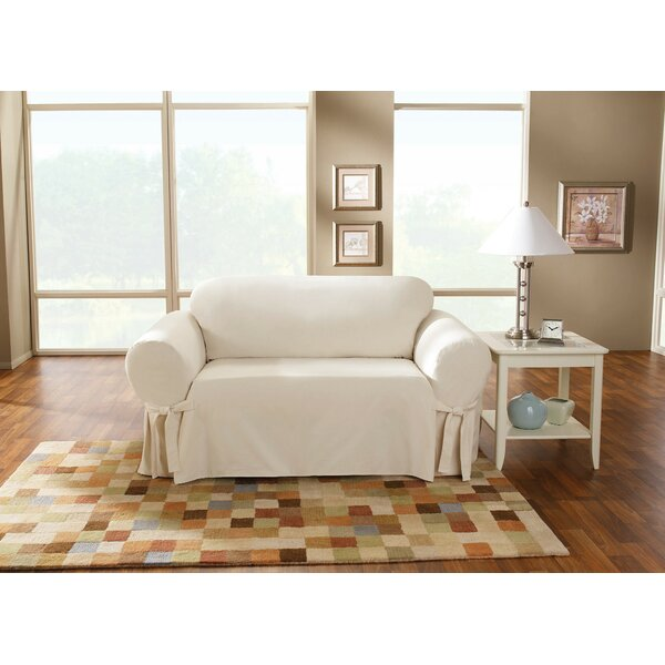 Cotton Duck Box Cushion Loveseat Slipcover By Sure Fit