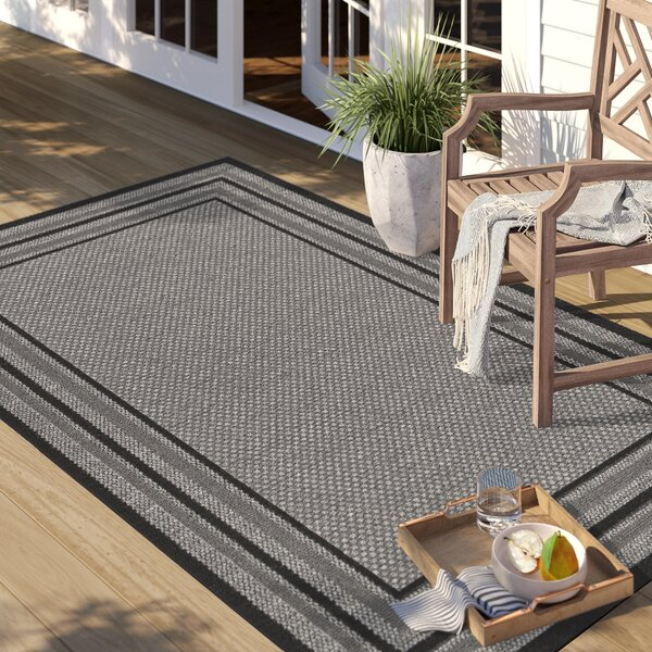 Dominica Gray Indoor/Outdoor Area Rug by Sol 72 Outdoor