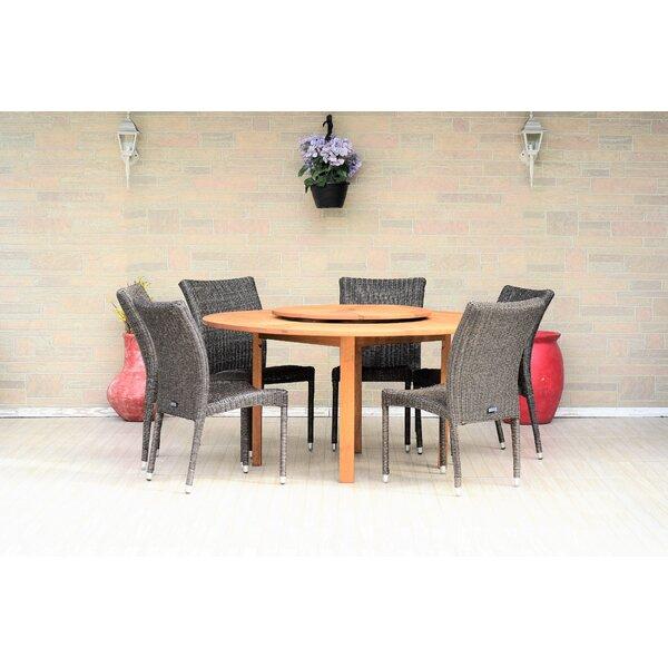 Dimitri 7 Piece Teak Dining Set Bayou Breeze W002826710