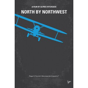 'North by Northwest' Minimal Movie Poster Vintage Advertisement on Wrapped Canvas by East Urban Home