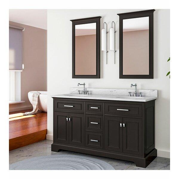 Baskin 61 Double Bathroom Vanity Set with Mirror