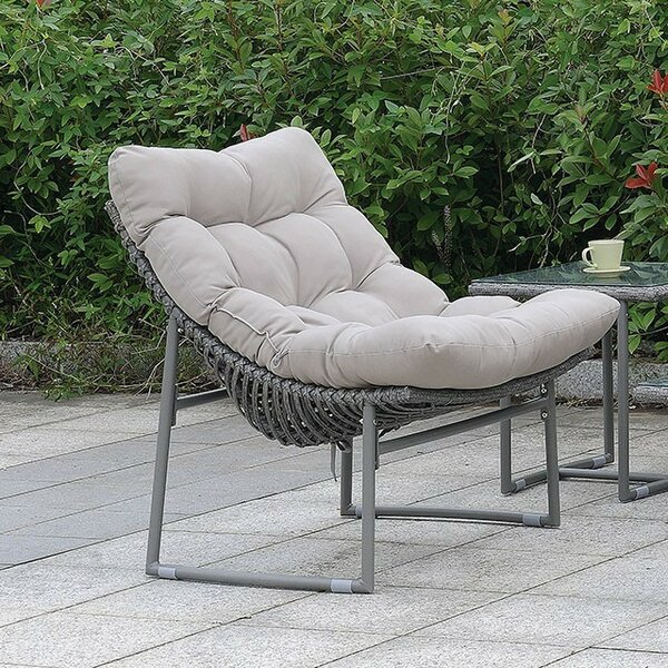 Cermenho Patio Chair with Cushion by Ivy Bronx